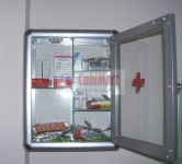 Tủ thuốc y tế gia đình nhôm kính