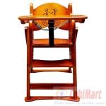 Ghế ăn bột gỗ 3 tầng cho bé yêu