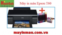 Máy in Phun màu Epson T60 - Máy in phun khổ A4 - 6 màu mực