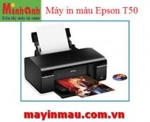Máy in Phun màu EPSON T50 - Khổ A4 - 6 màu mực
