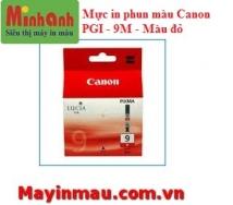 Mực in phun màu Canon PGI 9M (Magenta) - Màu đỏ