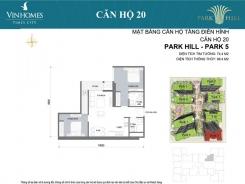 PARK 5 - 2 PHÒNG NGỦ - 74,4 M2