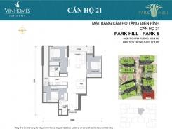 PARK 5 - 3 PHÒNG NGỦ - 103,8  M2