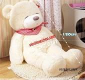 Gấu ngủ Teddy Boyds Trắng 1m2