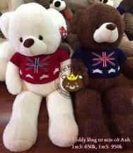 Teddy lông tơ mịn Cờ Anh (1m3 & 1m5)