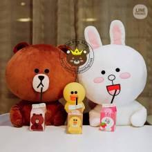 Gấu Line Thái (Thỏ Cony + gấu Brown)