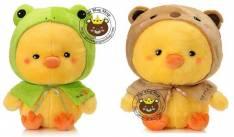 Vịt bông nón gấu/ nón ếch (50cm)