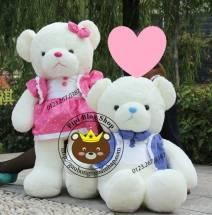 Gấu áo vest váy hồng / quần xanh (1m3)