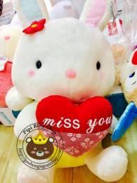 Thỏ ôm tim Nhật bản (40cm, 50cm, 60cm)