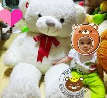 Gau Teddy Sweet Kiss trang (1m4, 1m8)