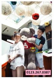 Gấu bông Teddy áo len Baymax (1m2, 1m4)