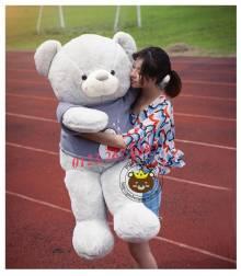 Teddy áo len Baymax xám, nâu (1m2, 1m4)
