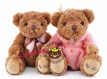 Gấu bông đẹp Teddy Hugsbaby nơ / váy đầm (60cm, 80cm)
