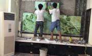 Thi Công Gạch Tranh 3D cho KH tại Hà Nội