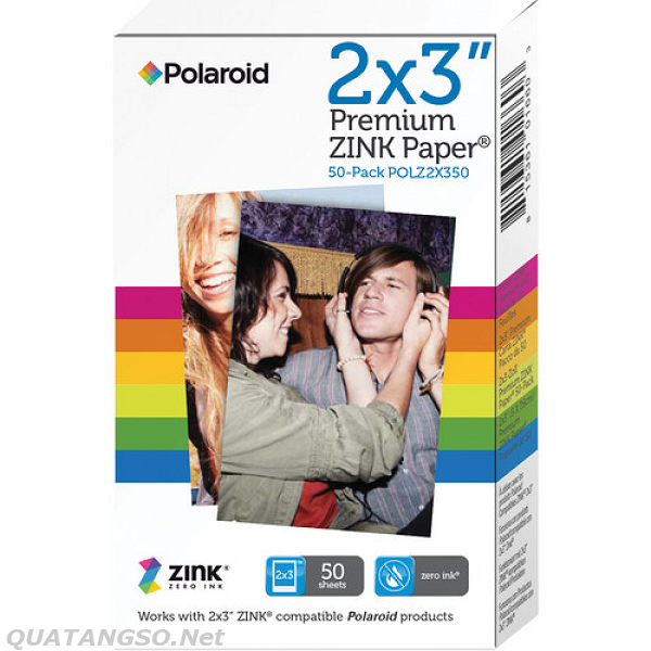 Polaroid 2 x 3 Premium ZINK Photo Paper 50 Sheets