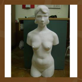 Tượng vẽ - bán thân nữ
