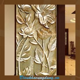 Điều khắc trong nội thất - phù điêu hoa lá