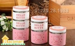 Cặp lồng cơm inox 3 tầng Hello Kitty