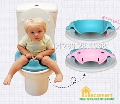 Miếng lót bồn cầu thu nhỏ cho bé ngồi bệt