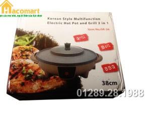 Bếp lẩu nướng đa năng Electric Hot Pot And Grill 2in1 GR-36