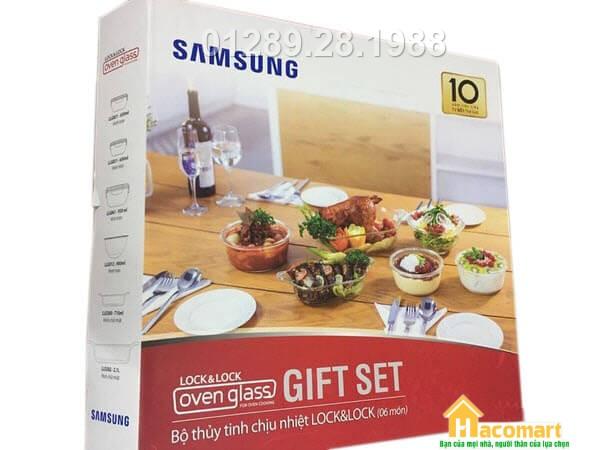Bộ thủy tinh chịu nhiệt Lock&Lock 6 món Samsung