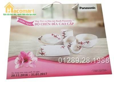 Bộ 12 món bát đĩa tô sứ Ceramic hoa đào Panasonic