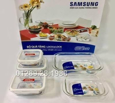 Bộ 5 hộp thủy tinh chịu nhiệt Lock&Lock Samsung