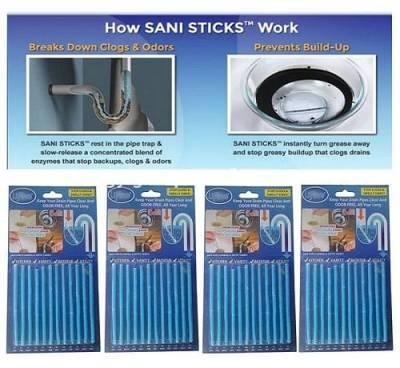 Que thông tắc cống bồn rửa bát Sani Sticks