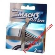 Lưỡi dao cạo râu thay thế Mach 3 Turbo 2'S