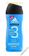 Gel tắm gội rửa mặt Adidas after Sport