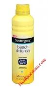 Kem chống nắng cho nam và nữ Neutrogena Beach Defense SPF 70 dạng xịt