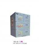 Tủ nhựa Song Long Panda 3 tầng, 4 ngăn