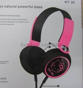 HEADPHONE HELLO KITTY KT30
