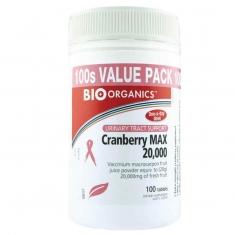 Bio-Organics Cranberry MAX 20000mg 100 viên