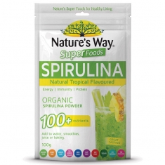 Tảo xoắn Nature's Way Superfoods Tropical Flavoured Spirulina 100g