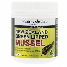 Thuốc bổ khớp sò trai xanh - Healthy Care New Zealand Green Lipped Mussel 250 viên
