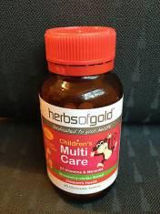 Vitamin tổng hợp cho trẻ Herbs Of Gold Children's Multi Care 60  viên nhai.