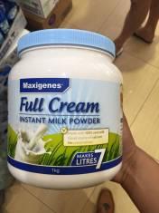 Sữa tươi dạng bột Maxigenes Full Cream Instant Milk Powder