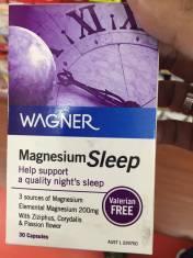 Vitamin giúp bạn ngủ yên giấc Wagner Magnesium Sleep 30 viên