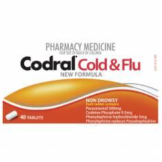 Thuốc trị cảm cúm Codral PE Cold & Flu 48 viên