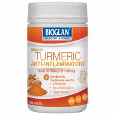 Củ nghệ giúp chống đau,sưng,viêm khớp, tiêu hoá tốt Bioglan Superfoods Turmeric 1000mg 100 viên