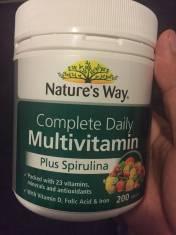 Vitamin tổng hợp & tảo biển Nature's Way Multivitamin &Spirulina 200 viên