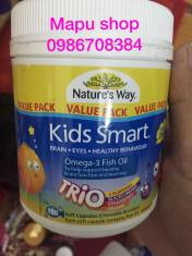 Nature's Way Kids Smart Omega 3 Fish Oil Trio 180 viên