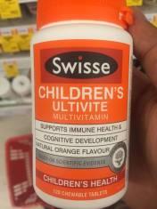 Bổ sung đầy đủ Vitamin và kháng chất cho trẻ kén ăn Swisse Children's Ultivite