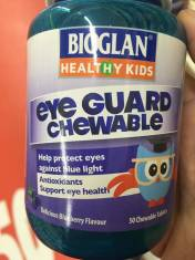 Kẹo bảo vệ mắt cho bé Bioglan Kids Eye Guard Chewable 50 viên