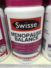 Swisse Menopause Balance 60 viên ( Cân bằng nội tiết tố nữ tiền mãn kinh)