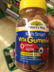 Kids Smart Vita Gummies Omega 3 Fish Oil 60 viên Úc - Bổ sung vitamin và dầu cá cho bé