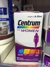 Vitamin tổng hợp cho phụ nữ Centrum for women 90 viên