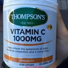 Thompson's Vitamin C 1000mg giúp tăng đè kháng, tránh cảm cúm, chảy nước mũi