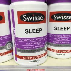 Vitamin hỗ trợ ngủ ngon Swisse Sleep 100 viên